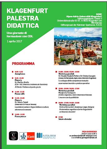 Locandina giornata di formazione Klagenfurt